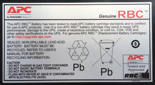 APC RBC8 USV-Batterie Plombierte Bleisäure (VRLA)