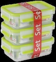 Emsa Food Clip&Close 515583 transp./grün 0,55l 3er Set