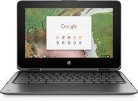 HP Chromebook x360 11 G1 EE Silber 29,5 cm (11.6 Zoll) 1366 x 768 Pixel Touchscreen Intel® Celeron® N3350 4 GB LPDDR4-SDRAM 32 GB eMMC