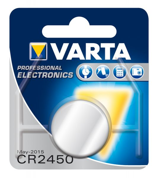 VARTA Knopfzellenbatterie Electronics CR2450 Lithium