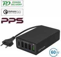 4smarts Netzladestation VoltPlug PPS 60W /Power Delivery+QC3.0