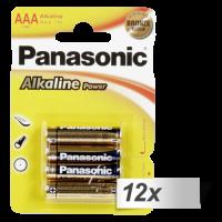 12x4 Panasonic Alkaline Power Micro AAA LR03