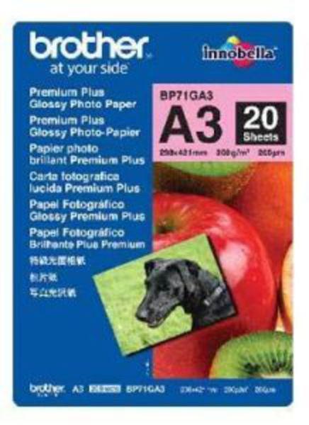 Brother Fotopapier DIN A3 20 Blatt (bis 6000 dpi) 260g/m²